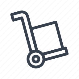 carriage, cart, handcart, pushcart, trolley, truck icon