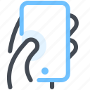 communication, device, hand, mobile, phone, smartphone, technology icon