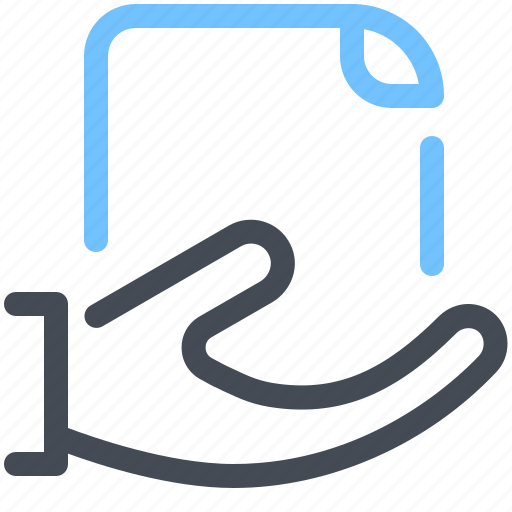 Document, extension, file, format, hand, paper icon - Download on Iconfinder