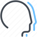 communication, connection, group, heads, hosting, optimization, users icon