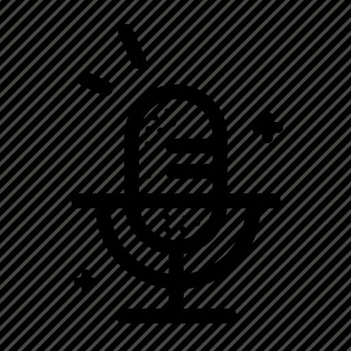 micro, microphone, music, retro, sound, vocal, voice icon