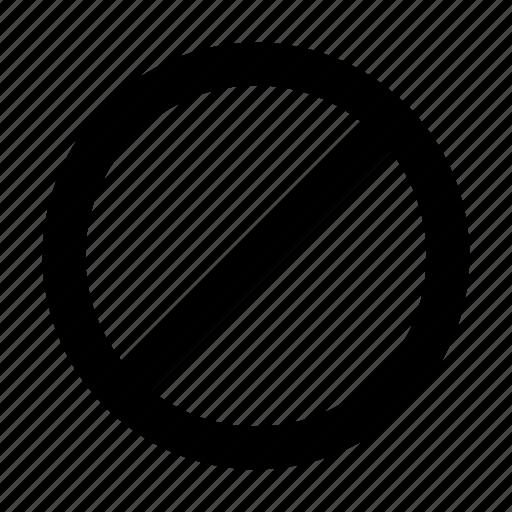 block, cancel, deny, no, remove, sign, stop icon
