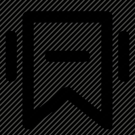 bookmark, delete, mark, remove, sign, tag icon