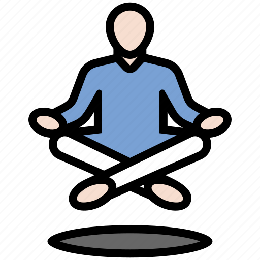 buddhism, hinduism, levitate, levitation, meditation, yoga, zen icon
