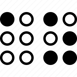 alphabet, blind, braille, visual icon