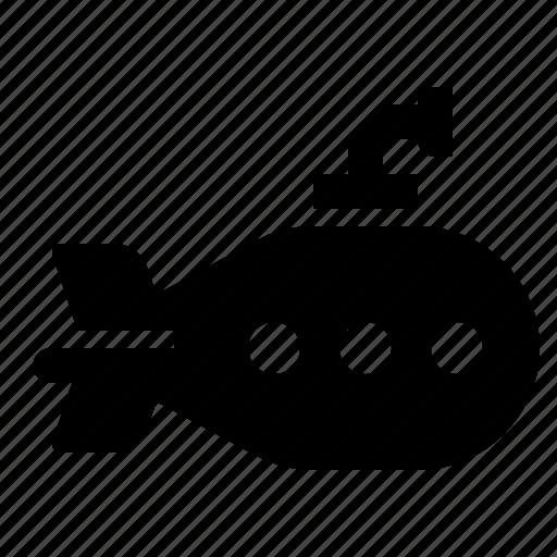 boat, periscope, ship, submarine, water icon