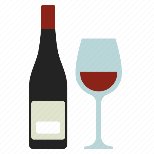 alcohol, bottle, glass icon