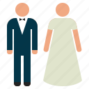 bride, couple, groom, marriage, married, wedding icon