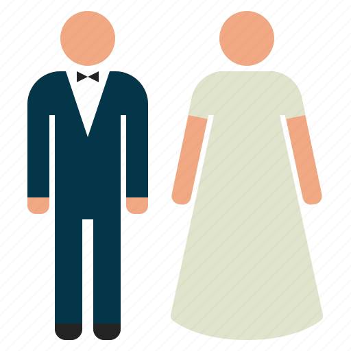 bride, couple, groom, marriage, married, wedding icon