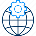 configuration, control, gear, globe, options, setting, settings icon