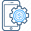 configuration, gear, mobile, procedure, setting, settings, smartphone icon
