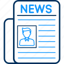 document, media, news, newsletter, newspaper, paper icon