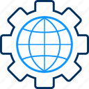 configuration, globe, process, setting, settings icon