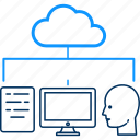 cloud, computing, database, hosting, network, server, storage icon
