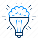 brain, idea, bulb, creative, creativity