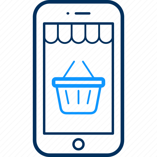 app, basket, buy, cart, ecommerce, mobile, shopping icon
