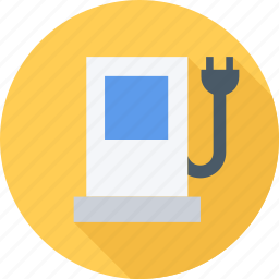 electricity, electrocar, gas, gas station icon