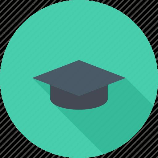 cap, graduate, graduate cap, learning icon