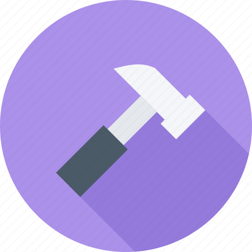 building, hammer, tool, tools icon