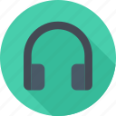 audio, headphones, music, player icon