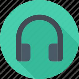 audio, headphones, music, player icon