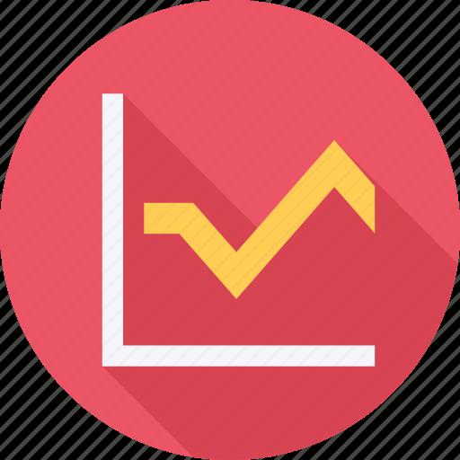 graph, line chart, presentation, training icon