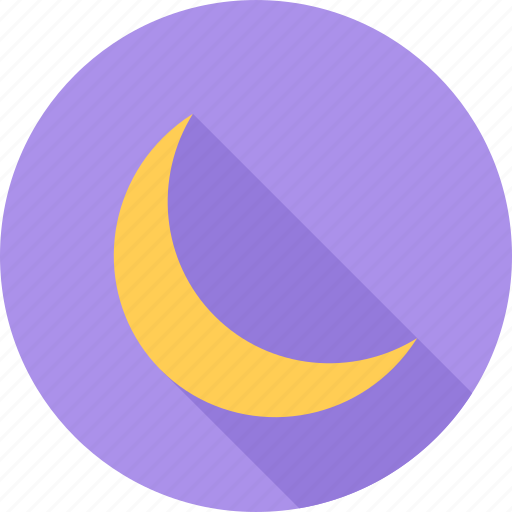 moon, night, sky, space icon