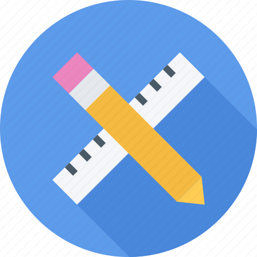 pencil, ruler, tool, tools icon