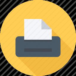 file, files, paper, printer icon