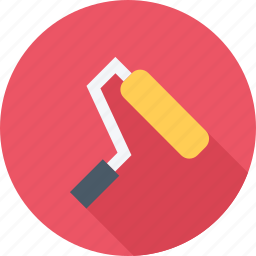 building, roller, tool, tools icon