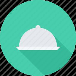 cook, cooking, restaurant, salver icon