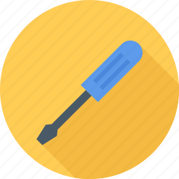 building, screwdriver, tool, tools icon