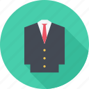 clothes, jacket, suit, tie icon