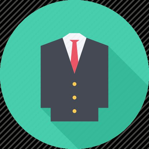 clothes, jacket, suit, tie icon