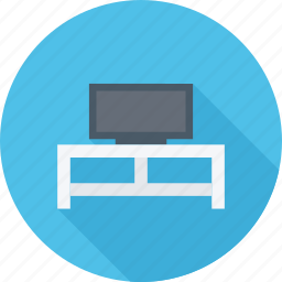 furniture, stand, tv, tv stand icon