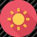 beach, sun, sunny, weather icon