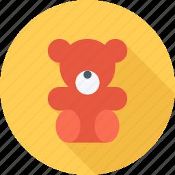 baby, bear, teddy bear, toy icon