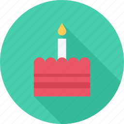 birthday, candle, food, torte icon