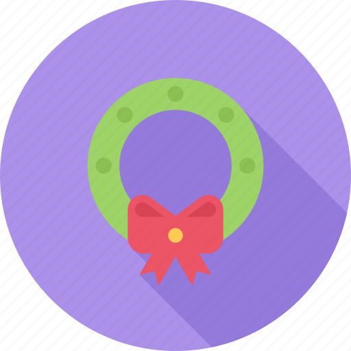 bow, christmas, holiday, wreath icon
