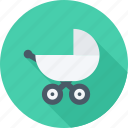 baby, carriage, baby carriage, child icon