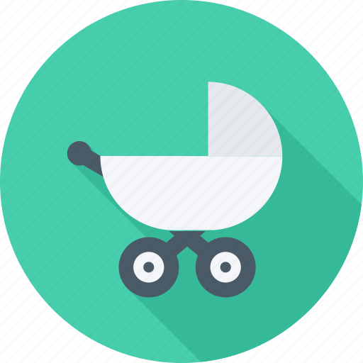 baby, baby carriage, carriage, child icon