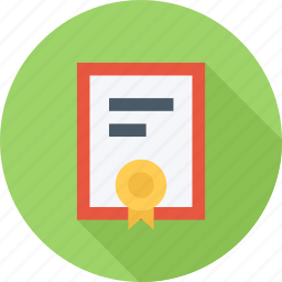 award, badge, certificate, charter icon