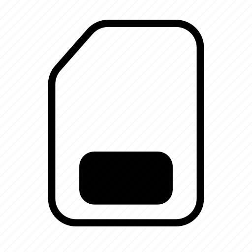 card, gsm, memory, sim icon