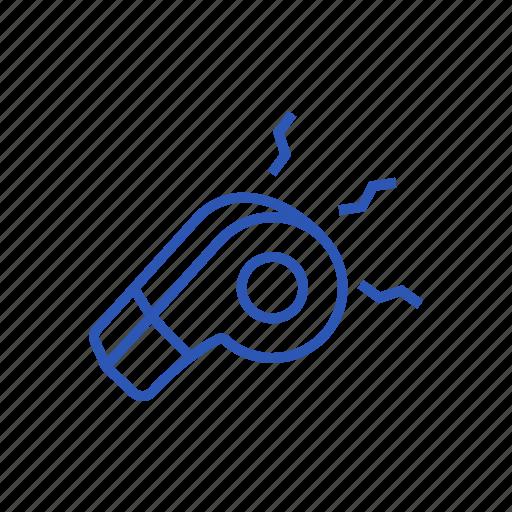 game, sound, sport, whistle icon icon