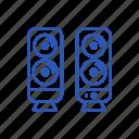 audio, dinamic, media, music, speakers