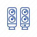 media, speakers, audio, dinamic, music icon