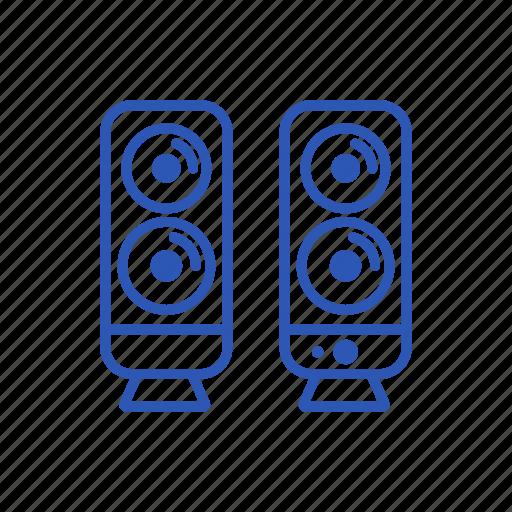 audio, dinamic, media, music, speakers icon