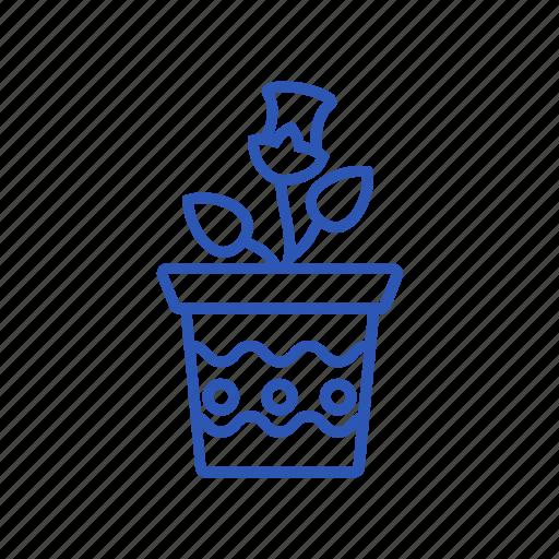 ecology, flower, flower pot, gardening, pot icon