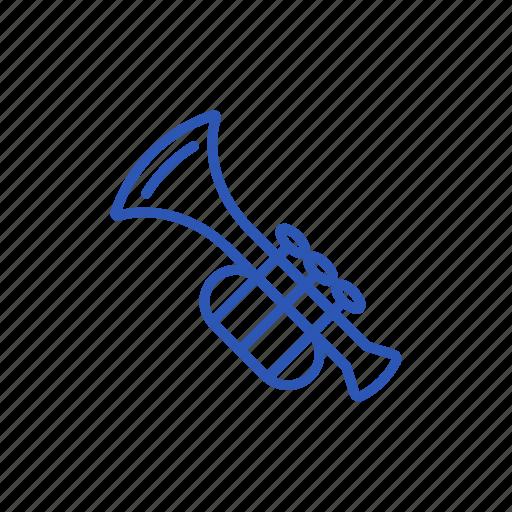 instrument, music, musical, trumpet icon icon