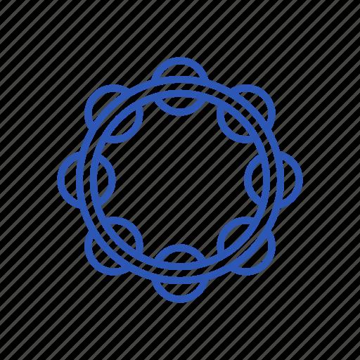 instrument, music, musical, play, sound, tambourine icon